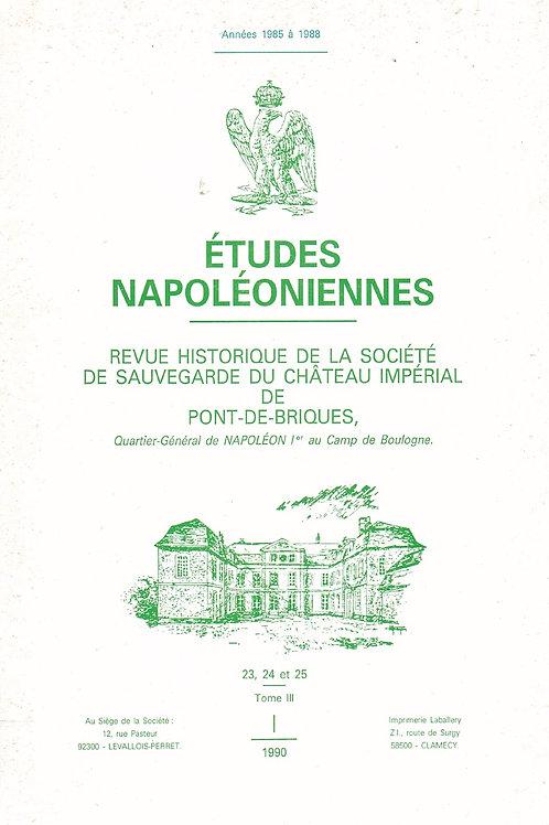 Etudes Napoleoniennes N°23-24-25