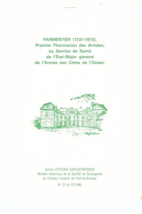 Parmentier (1737-1813) premier pharmacien des armées