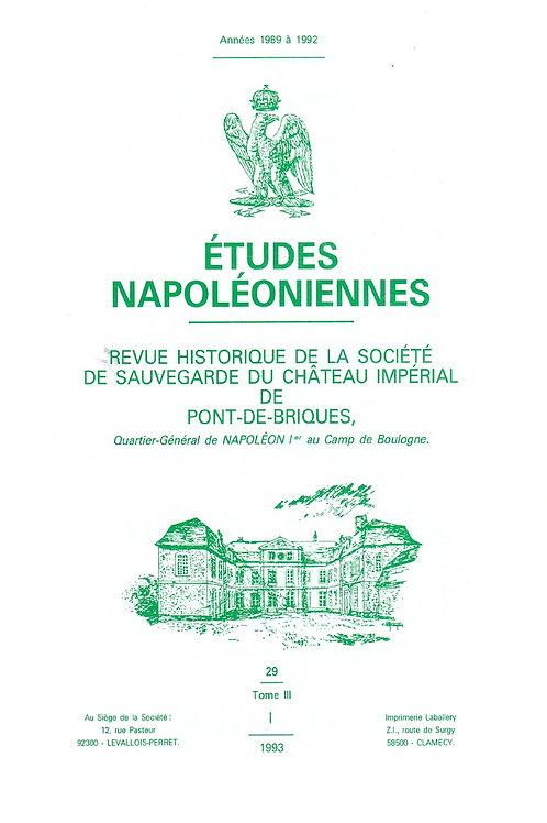 Etudes Napoleoniennes N°29