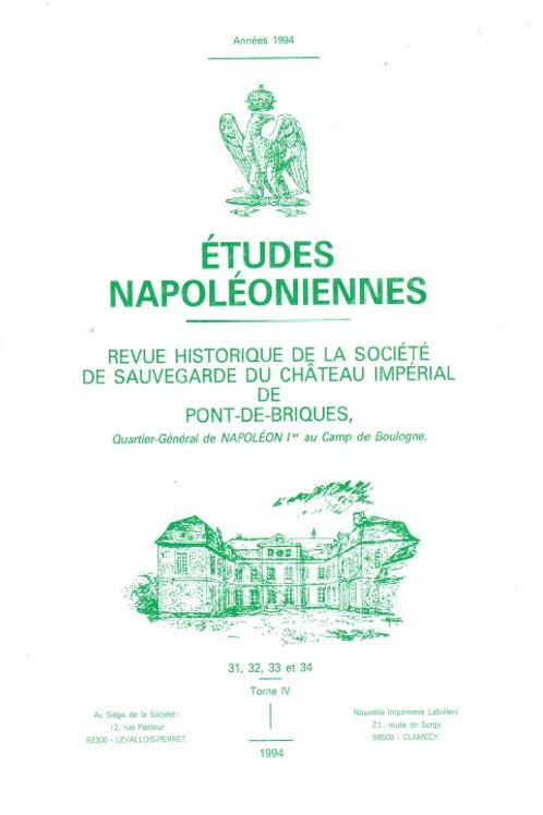 Etudes Napoleoniennes N°31, 32, 33 et 34