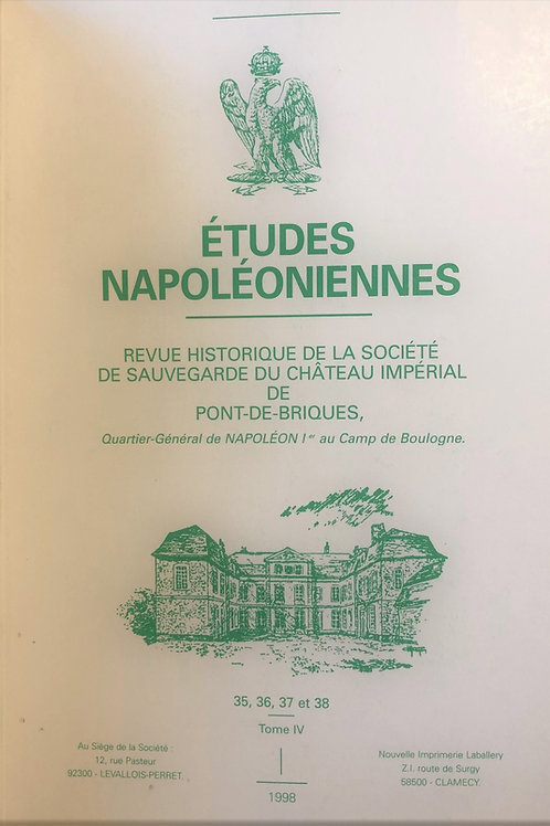 Etudes Napoleoniennes N°35, 36, 37, 38