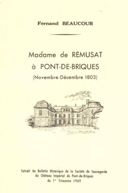 Lettre de madame de rémusat à Pont de Briques