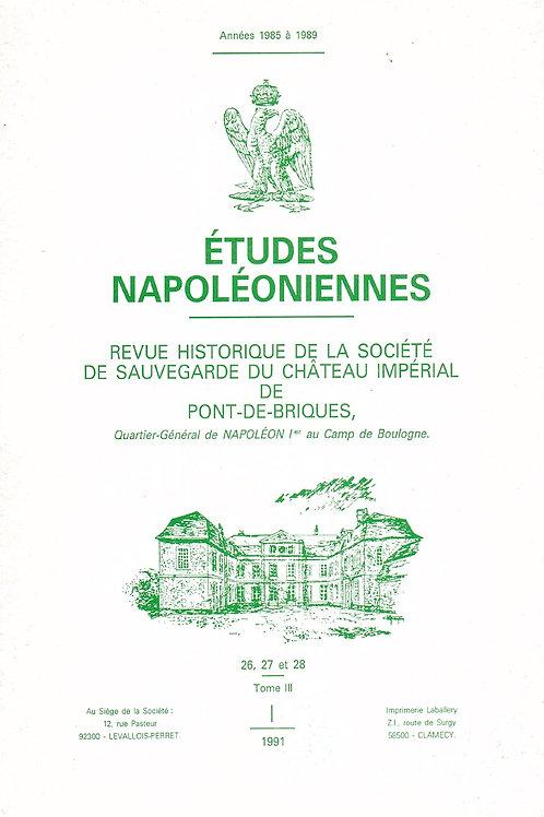 Etudes Napoleoniennes N°26-27-28