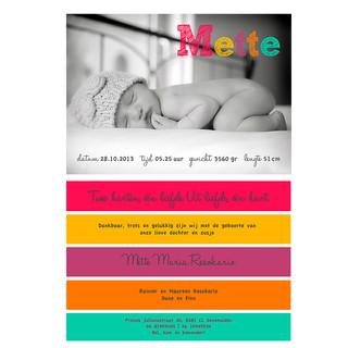 geboortje kaartje