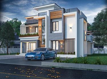 Contemporary flat roof Design in Pandalam
