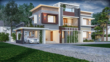 Contemporary Styled Residence in Puthusserybagom. best Architect in pathanamthitta