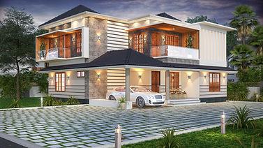 Contemporary sloped roof Design. kottarakara.