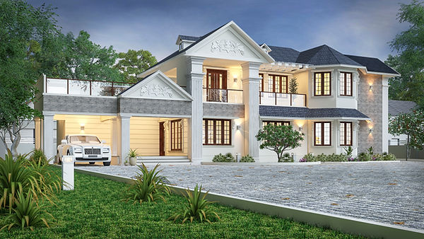 Colonial Styled Residence in Plankamon,Ayroor, Pathanamthitta. Best architect in Pathanamthitta. Renovation Residence project. Colonial style house