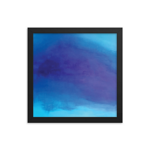 Deep Blue Serenity Framed Print 12x12