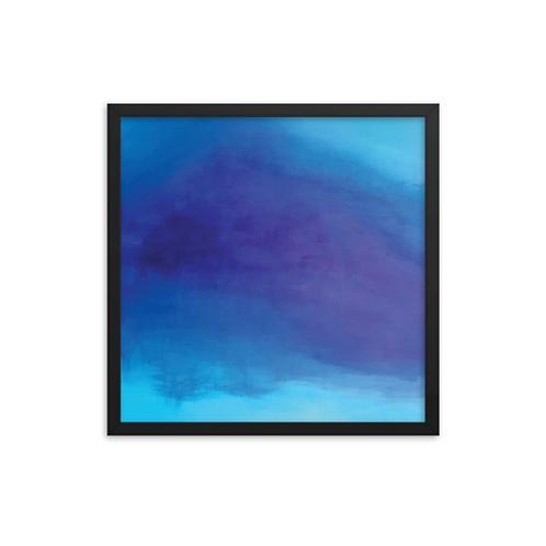 Deep Blue Serenity Framed Print 18x18