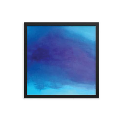 Deep Blue Serenity Framed Print 16x16