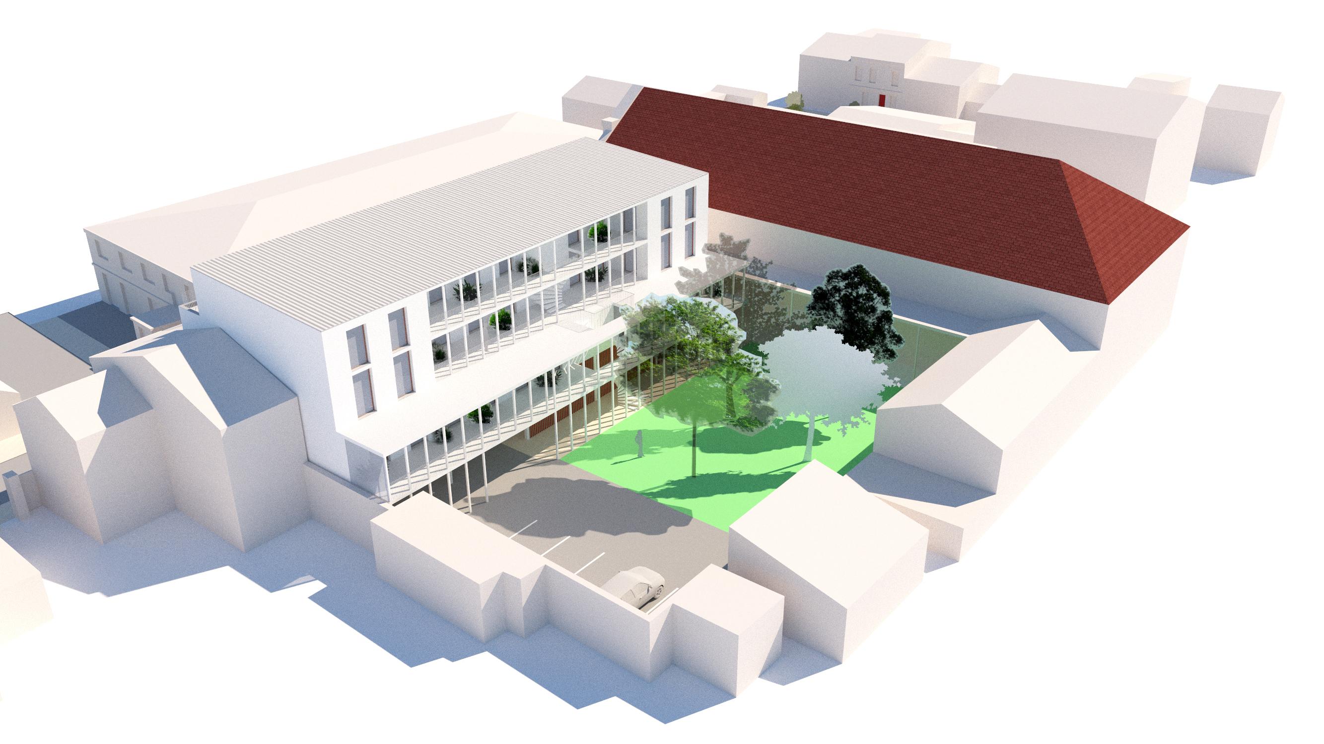 13 logements - Libourne - aérienne 2