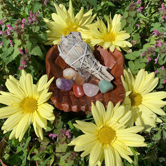 Tumbled stones and Sage