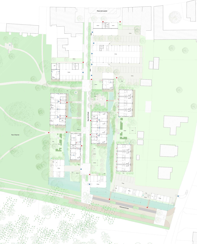 162 logements - Plan RDC EST