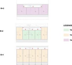 13 logements-Libourne-Plans étages
