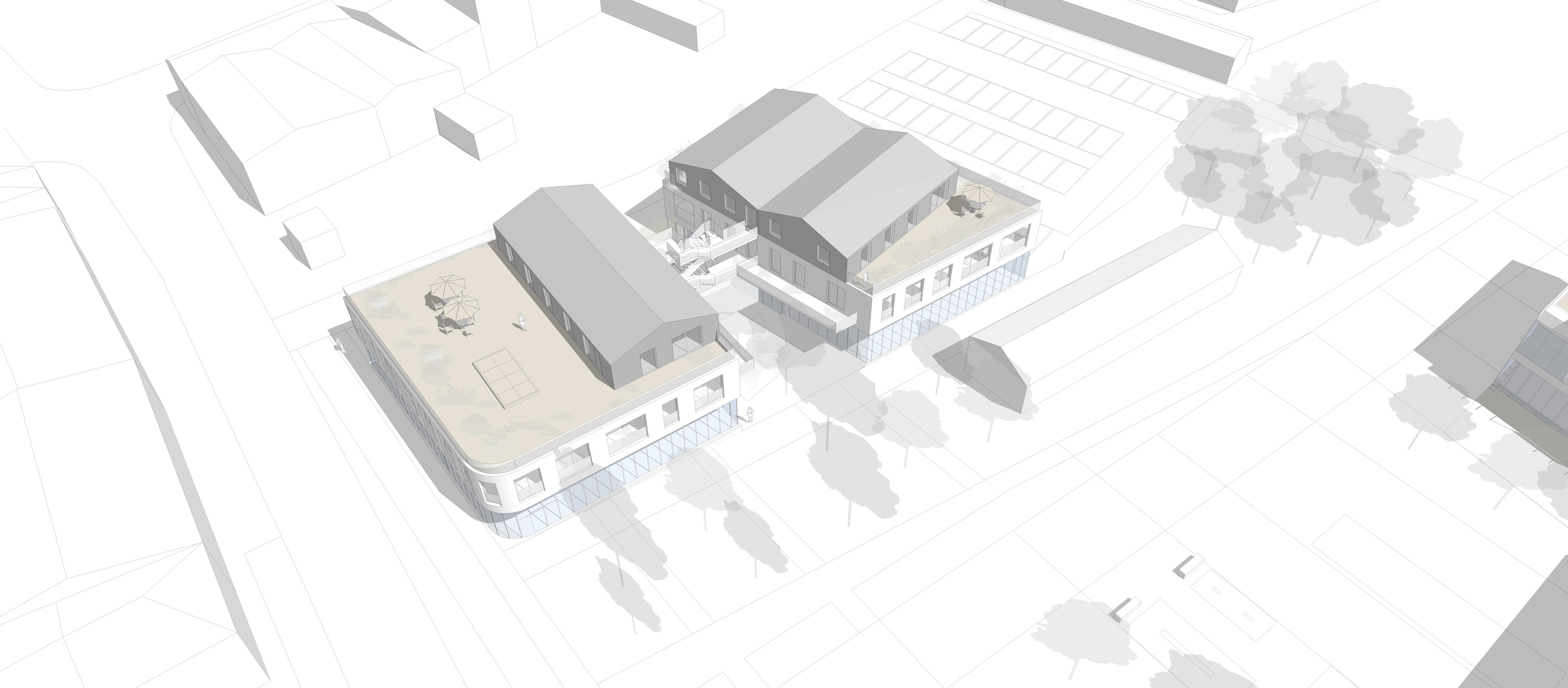 12 logements - Floirac - axo