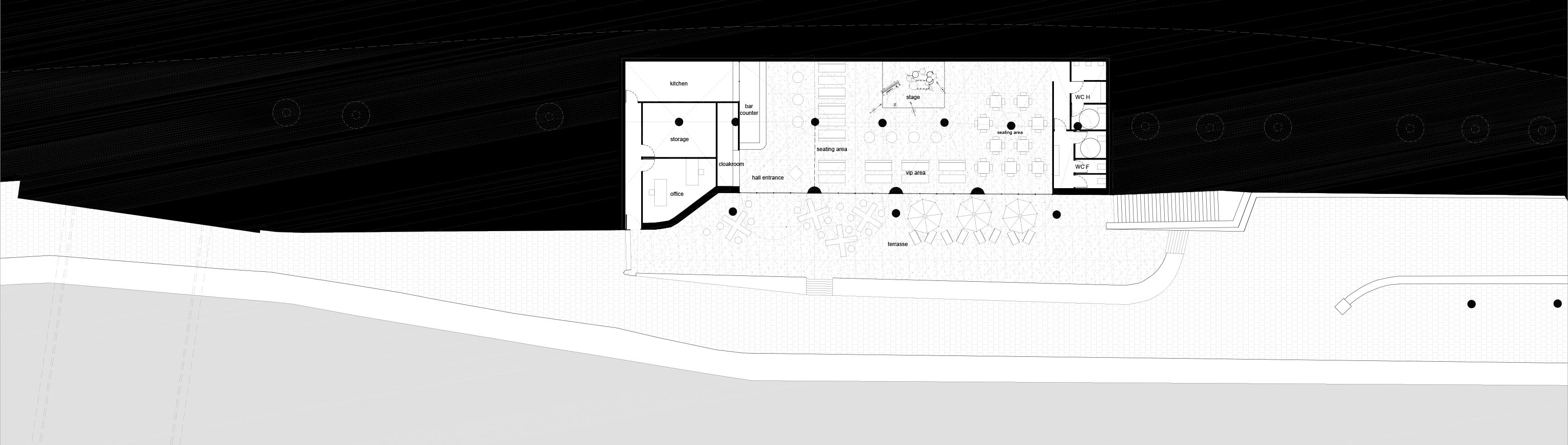 Café - Pont des Arts - plan