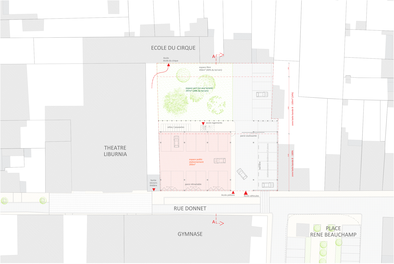 13 logements-Libourne-Plan RDC