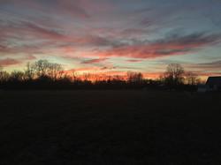 Woods Edge Farm Sunset
