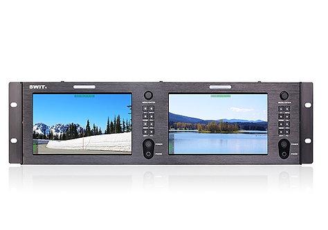 M-1073H Dual 7-inch FHD Rack LCD Monitor