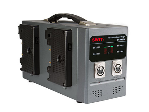 PC-P430A 4-ch Gold Mount Battery Charger