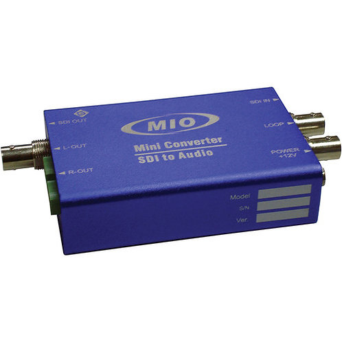 MMIO DEMUX-HDSDI-4AES 3G/HD/SD Signal & AES Audio De-embedder