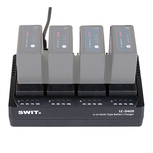 LC-D420V 4-ch Simultaneous DV battery Charger for JVC Battery