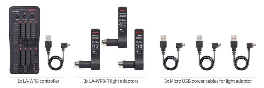 LA-WR8-KIT Pocket Wireless DMX controller Kit | swit