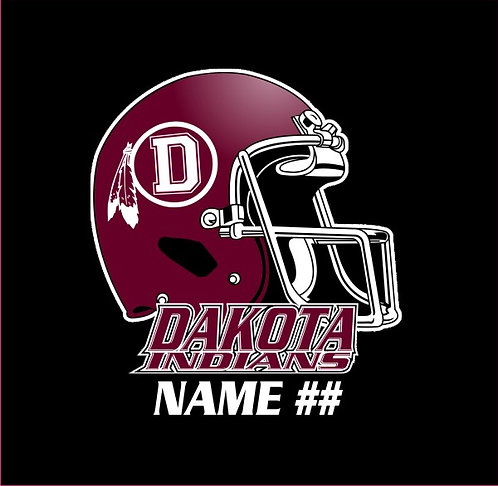Dakota Football Window Sticker