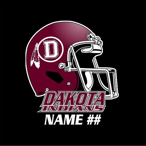 Dakota Football Window Sticker