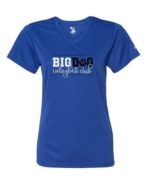 Big Dog VB Club Ladies Short Sleeve V-Neck Performance Tee 85885