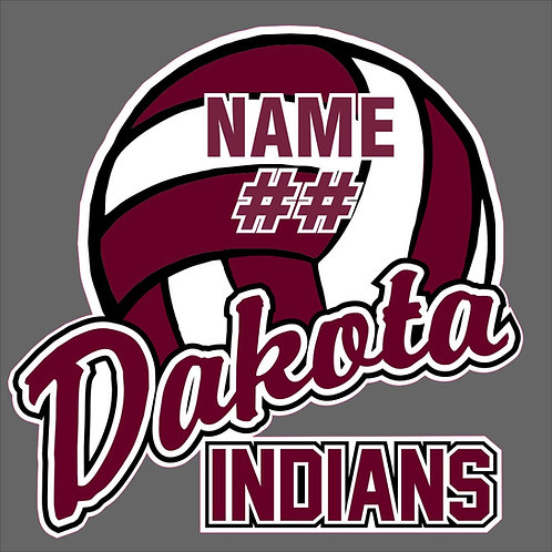 Dakota Volleyball Window Sticker