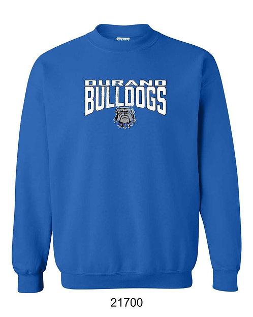 Durand Bulldogs Crewneck sweatshirt with distressed DBD print