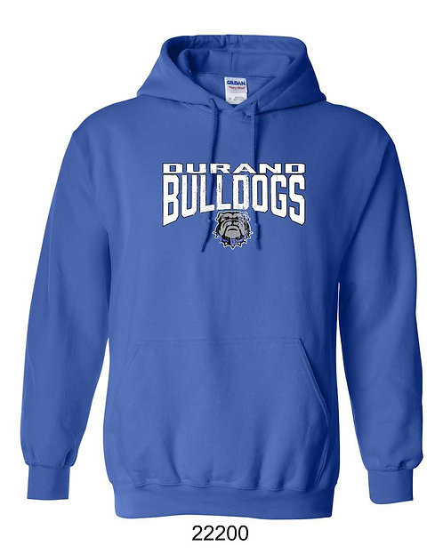 Durand Bulldogs Hoody with distressed DBD print