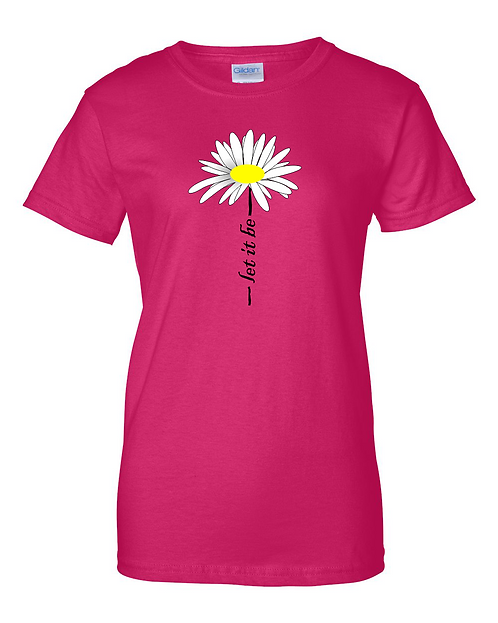 Classic LET IT BE Daisey t-shirt