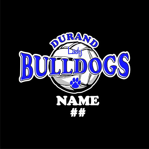 Durand Volleyball Window Sticker