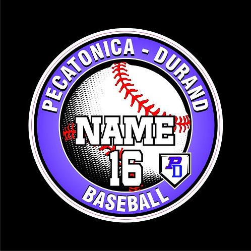 PD Baseball Window Sticker