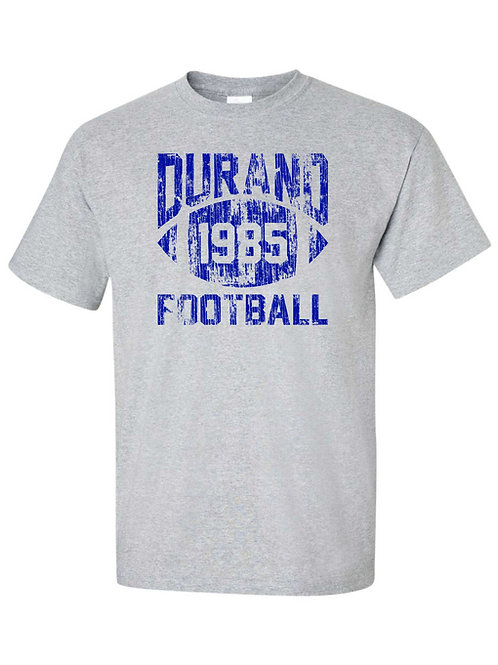 Vintage Durand Football CUSTOM YEAR T-Shirt (Add any year to shirt)