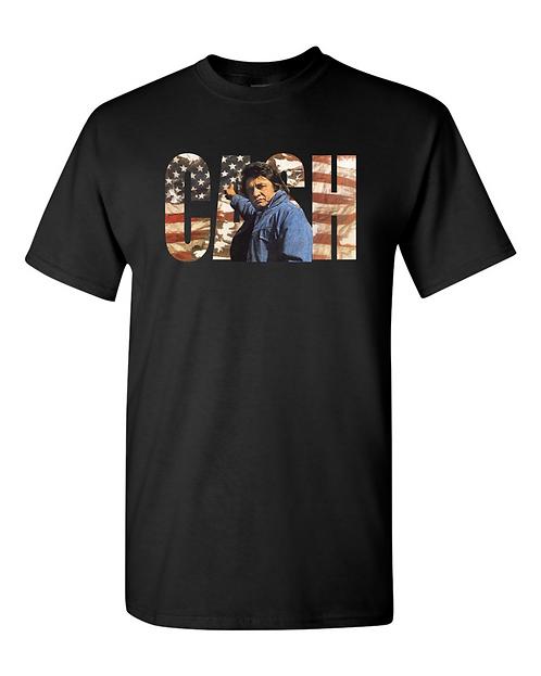 Vintage Johnny Cash Rugged FlagT-shirt