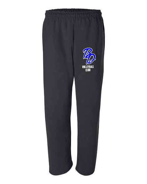 Big Dog VB Club open bottom, pocketed sweatpants 23460
