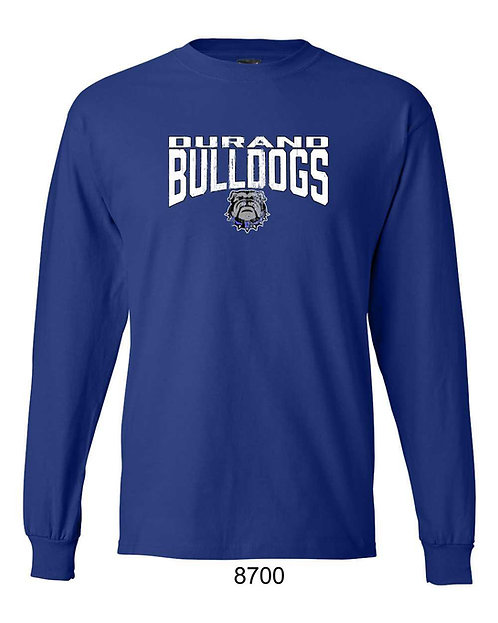 Durand Bulldogs LS T-shirt with distressed DBD print