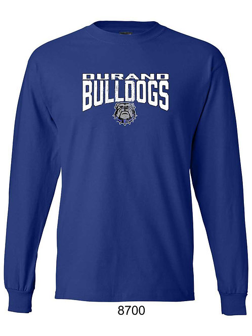 Durand Bulldogs LS T-shirt with distressed DBD print