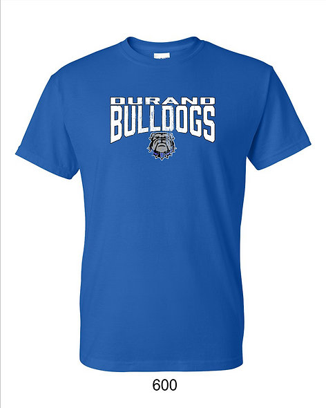 Durand Bulldogs SS T-shirt with distressed DBD print