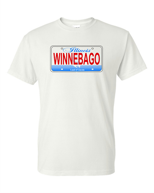 Illinois License Plate WINNEBAGO