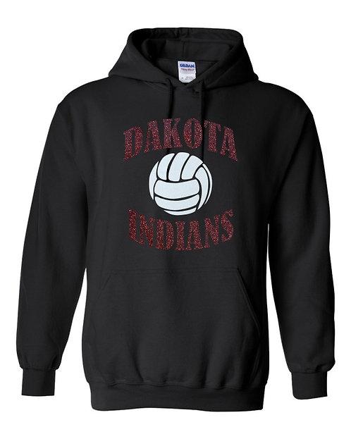 Dakota Indians Glitter Volleyball hoody