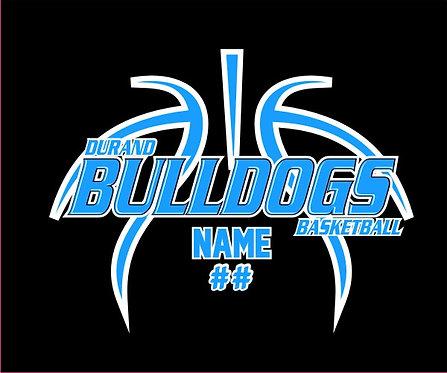 Durand Basketball Window Sticker