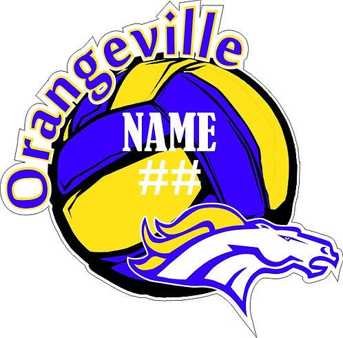 Orangeville Volleyball Sticker