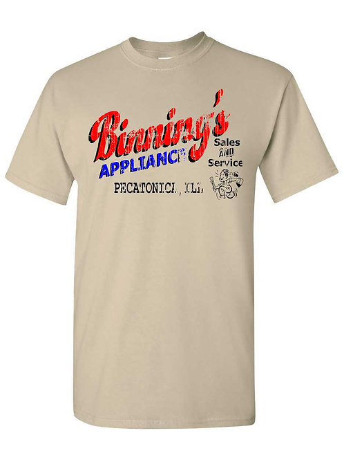 Vintage Pecatonica Binning's Appliance T-shirt