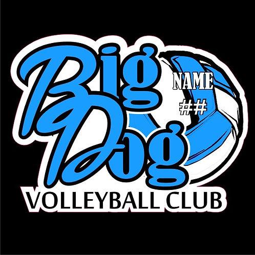 Personalized Big Dog Volleyball Club Sticker