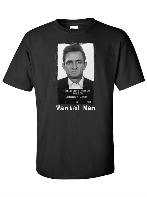 Vintage Johnny Cash Wanted Man Mugshot T-shirt